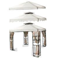 10'x10 Gazebo Canopy Top Cover Replacement Outdoor Garden Patio White