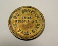 OBSOLETE VINTAGE MIKE/'S TAVERN BAR PINE CITY MINNESOTA .05 CLAY WWII TRADE TOKEN