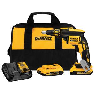 DEWALT-20V-MAX-XR-Cordless-Li-Ion-BL-Drywall-Screwgun-Kit-DCF620D2-New