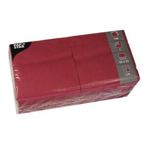 5000-bordeaux-Tissue-Servietten-1-lagig-1-4-Falz-33-cm-Party-Gastro-Papstar-FSC