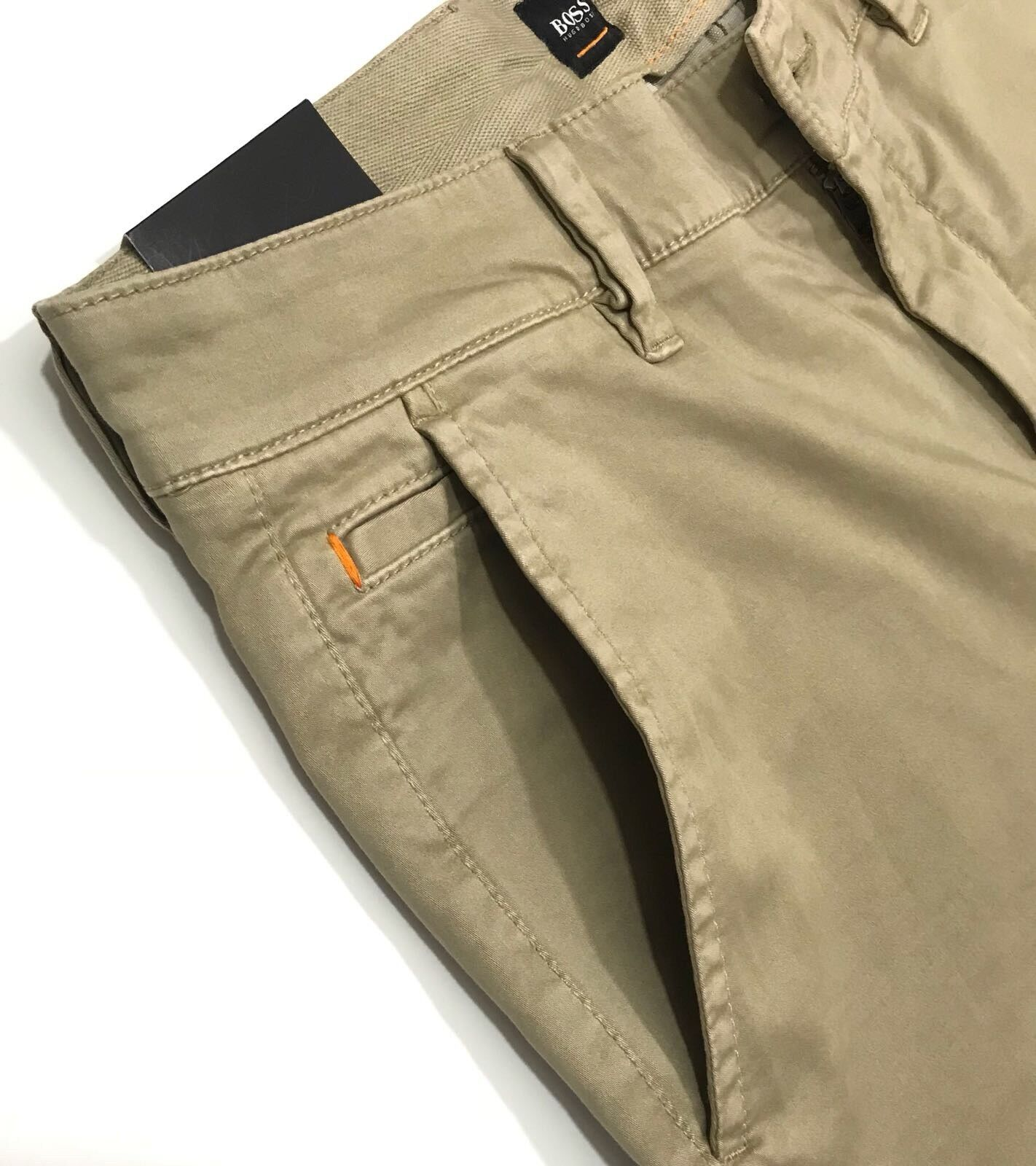Hugo Boss Slim-fit casual chinos in brushed stretch cotton    Beige bb4566