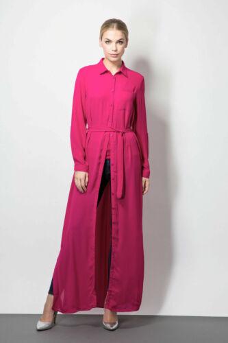 Ladies Maxi Long Shirt Dress Greeb Clothing Fashion Casual Long Sleeve Size 6-16