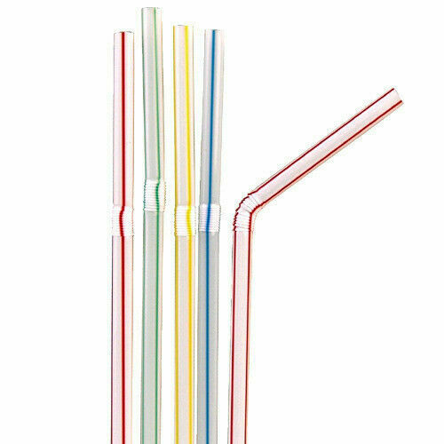 Best Colorful Flexible Disposable Drinking Straws Bendy Party Plastic Straws