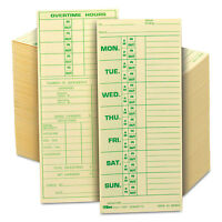 Tops Time Card For Pyramid Model 331-10 Weekly Two-sided 3 1/2 X 8 1/2 500/box on sale