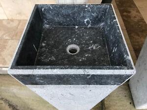 Lavabi Bagno Verticali In Marmo Nero 43x43x83 H Cm Ebay