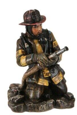 """FIrefighter 7"""" RESIN FIGURINE FIREMAN FIREFIGHTER DESK HOME DECOR"""