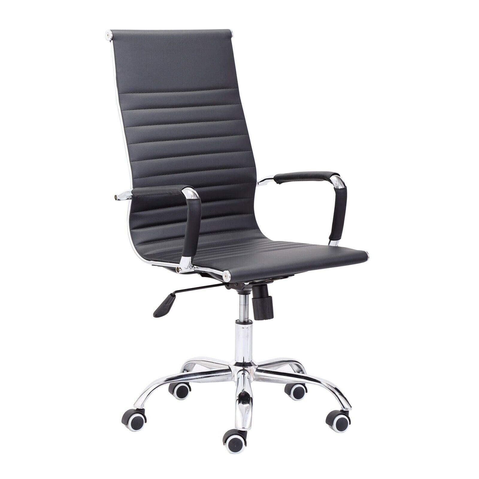 s l1600 - Silla de oficina ergonomica, sillon giratorio despacho, Blanco y Negro, Letter