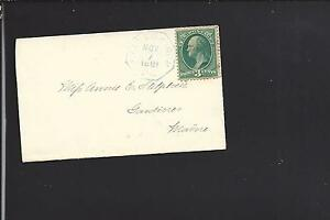 FALLS CHURCH, VIRGINIA 1881 BLUE OCTAGON CL ON LADIES COVER, FAIRFAX 1849/OP.