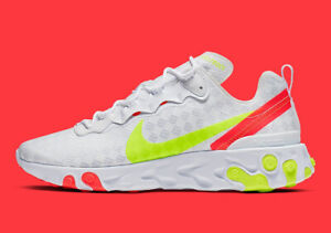 Nike React Element 55 Mens Grey White Volt Yellow Shoe Trainer Sneaker UK 6-12