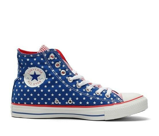 Converse Chuck Taylor All Star Bleu Blanc Rouge Chaussures 145527 C star size UK 3.5