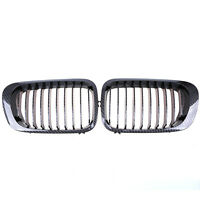 2x Front Grille Kidney Hood Grill Fit For Bmw E46 2d 3 Series 1998-2002 Facelift