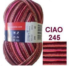 100g CIAO Sockenwolle MERINO SUPERWASH 4-fach Merinowolle Wolle F245 ähnl. REGIA