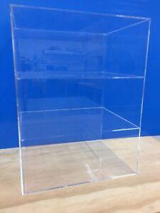 Acrylic-Lucite-Countertop-Display-ShowCase-Cabinet-12-034-x-9-5-034-x-19-034-h-2-shelves