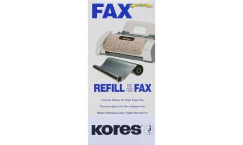 2 x Kores Thermotransfer-Farbband schwarz für Brother Fax T72 74 76 78 144Seiten