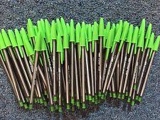 Lot of 100 BRIGHTGREEN Bic Cristal Ballpoint Pens 1.6mm, Xtra-Bold