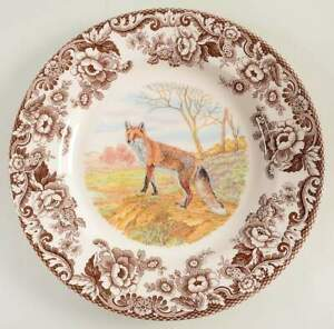 Spode-WOODLAND-Red-Fox-Dinner-Plate-10995284