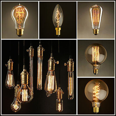 Vintage Style Antique Retro Filament Light Bulb / Squirrel cage Lamps B22 & E27