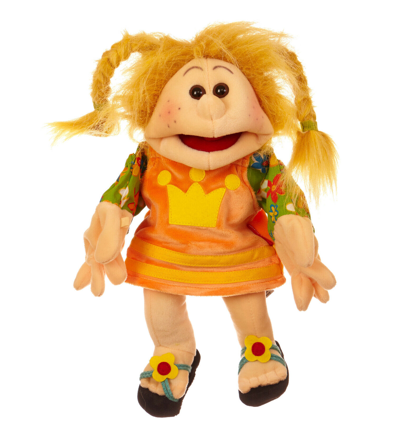 Living Puppets W241 Jennilein Hand Puppet 35 cm Sandals and Braided Pigtails