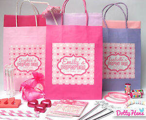 Image Is Loading PERSONALISED PINK PAMPER BIRTHDAY PARTY PRE FILLED GIFT