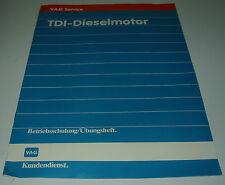 Betriebsschulung VW Audi TDI Diesel Motor Übungsheft Stand 03/1990!