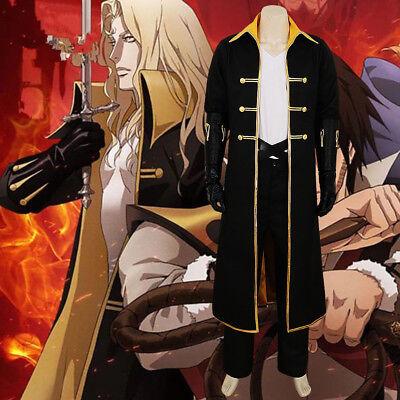 Castlevania Alucard Sypha Uniform Anime Version Cosplay Costume Halloween NN