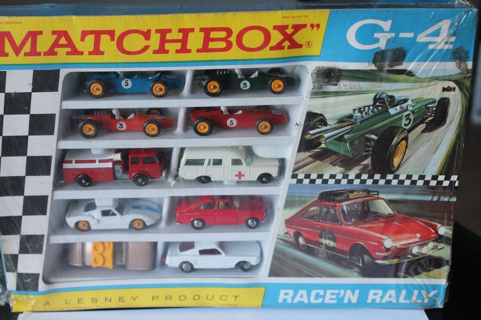 MATCHBOX Giftset  g-4  race 'N rally  1968  OVP  MINT  LESNEY  économiser 35% - 70% de réduction
