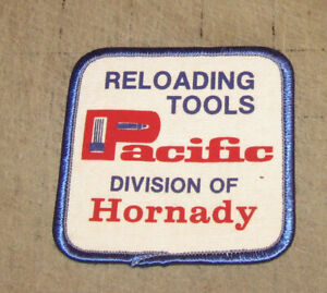 PACIFIC-RELOADING-TOOLS-Division-of-Hornady-3-034-White-Hat-Shirt-Gear-PATCH