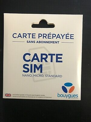 carte sim 1€ bouygues Bouygues telechips (sim france 4g) without credit (0 € credit