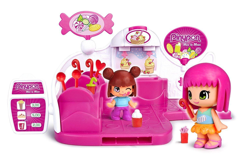 Pinypon Tienda De Chuches  1 Dependienta Pin y Pon y una niña con Accesorios  garanzia di credito