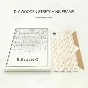 Details About Diy Wooden Poster Stretched Canvas Painting Frames A4 Large Wall Picture Hanging