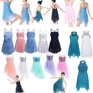 Girls-Latin-Ballet-Modern-Dance-Dress-Kid-Ballerina-Party-Jazz-Dancewear-Costume