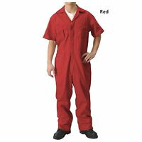 Walls Mens Coverall Red Short Sleeve Sz. 46 X-tall
