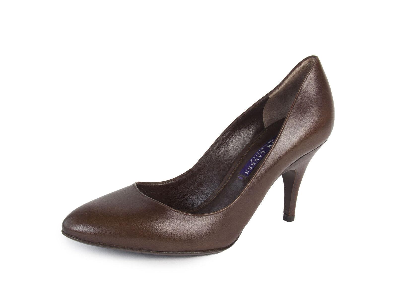 Ralph Lauren púrpura Label Bombas De Cuero Cuero Cuero Marrón Elani de la mujer talla 7  550 Nuevo  encuentra tu favorito aquí