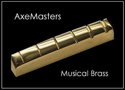USA MADE AxeMasters Slotted Gold BRASS NUT for MANDOLIN