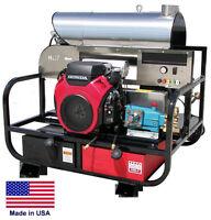 Pressure Washer Hot Water - Skid Mounted - 5.5 Gpm - 3500 Psi - 18 Hp Vanguard