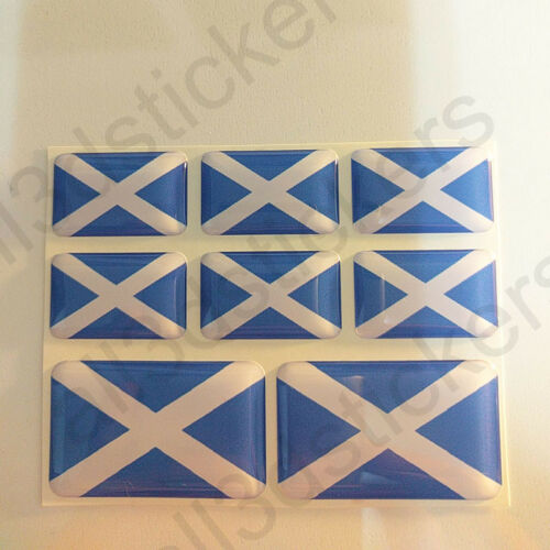 Sticker Scotland Resin Domed Stickers Scotland Flag 3D Vinyl Adhesive Decal Car