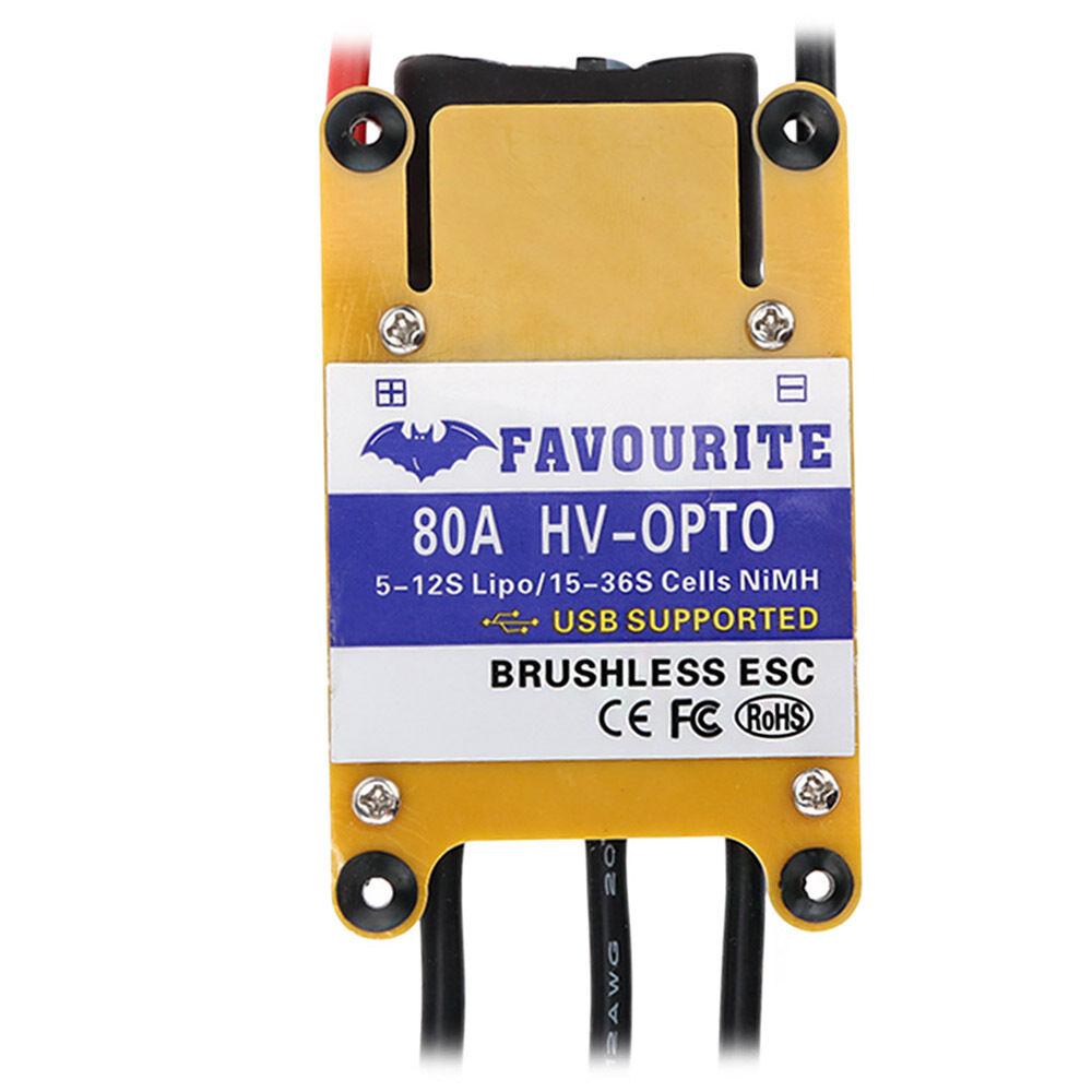 Favourite Sea Swallow 80A HV-OPTO Brushless ESC w/ USB Programming for Airplane