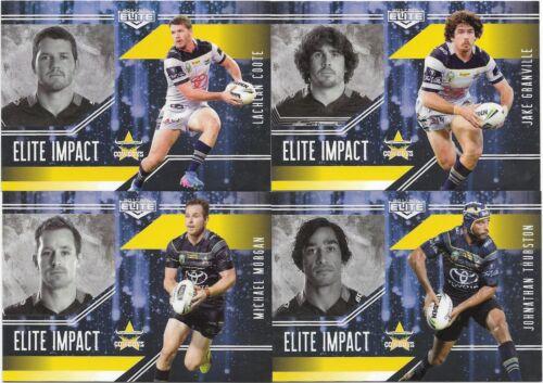 2017 NRL Elite Impact 4 Card North Queensland COWBOYS Team Set