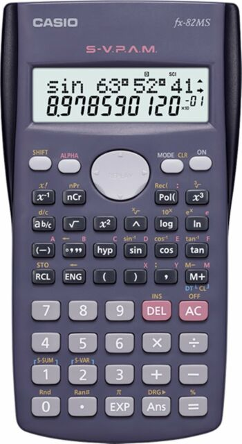 Casio fx-82MS Scientific Calculator 2-Line Display 240 Function STAT Data Editor