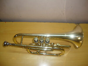 BEST DEAL NOW! NEW Bb FLAT BRASS FINISHING CORNET WITH FREE HARD CASE+MOUTHPIECE