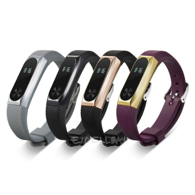 Replacement Wrist Strap Band W/ Metal Frame For Xiaomi Mi Band 2 Smart Bracelet