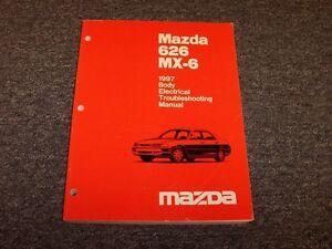 1997 mazda mx6 wiring schematic 1997 mazda 626 sedan mx6 coupe body electrical wiring diagram  1997 mazda 626 sedan mx6 coupe body