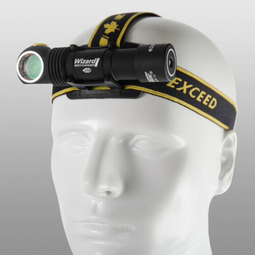 Headlamp Flashlight Armytek Wizard v3 XP-L LED Headlight Torch USB Battery