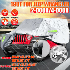 For Jeep Wrangler 2 4 Door Car Cover Water Proof Outdoor Sun Rain Snow Dust Us Fits Jeep