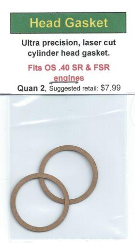 OS .40 SR /& OS .40 FSR Cylinder Head Gasket 2 Pack NIP