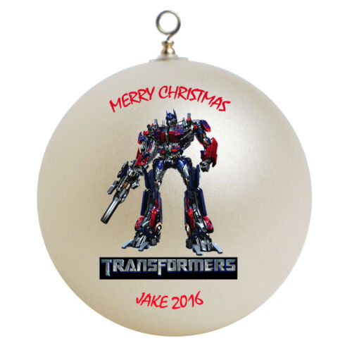 Personalized Transformers Christmas Ornament Add Name