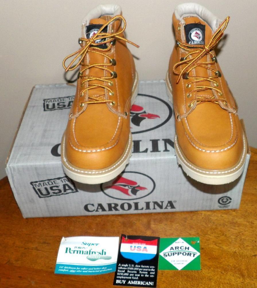 Para Hombre Carolina Made Usa Trabajo Tobillo botas de ajuste de cuero de Caza Nuevo En Caja