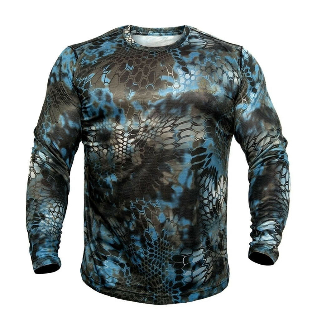 Kryptek Hyperion Crew  Long Sleeve Hunting and Fishing Shirt, Neptune  large discount
