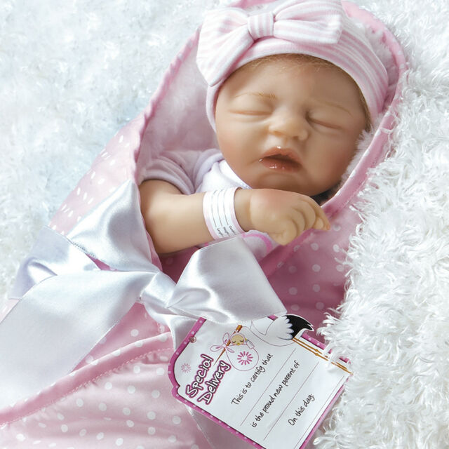 5a86c618aa8 Paradise Galleries Realistic Baby Doll - FlexTouch Silicone Vinyl 17.5