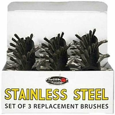 GBS202 Grill Brushes Replacement tor Grillbot Stainless Steel Set of 3